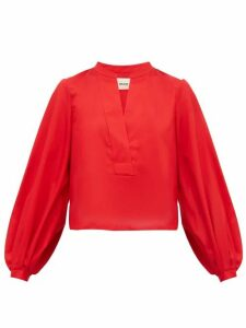 Khaite - Suzanna Cotton Blouse - Womens - Red