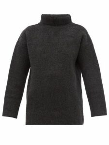 Jacquemus - Agde Roll-neck Wool-blend Sweater - Womens - Grey