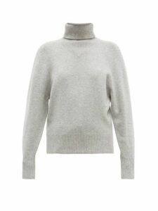 Joseph - Ribbed Roll-neck Wool-blend Sweater - Womens - Grey