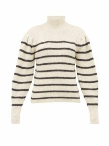 Isabel Marant Étoile - Georgia Striped Alpaca Blend Sweater - Womens - White Black