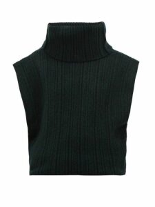 Jacquemus - Aube Cut Out Roll Neck Sweater - Womens - Dark Green