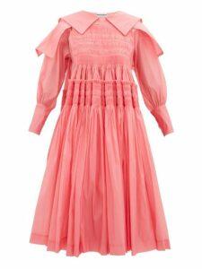 Molly Goddard - Bertha Smocked Organza Dress - Womens - Pink