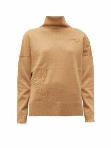 Altuzarra - Bromley Bird-embroidered Wool-blend Sweater - Womens - Tan