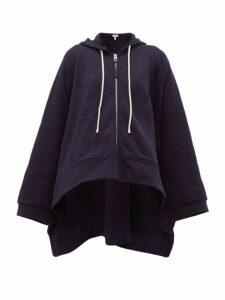 Loewe - Oversized Cotton-jersey Hooded Sweatshirt - Womens - Blue