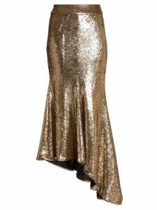 Alexandre Vauthier - Asymmetric Sequinned Midi Skirt - Womens - Gold