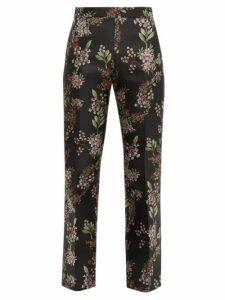 Giambattista Valli - Floral Jacquard Trousers - Womens - Black Multi