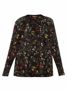 Altuzarra - Bowie Floral-print Silk Blouse - Womens - Black Print