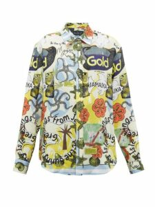 Martine Rose - Jamaica-print Linen Shirt - Womens - Multi