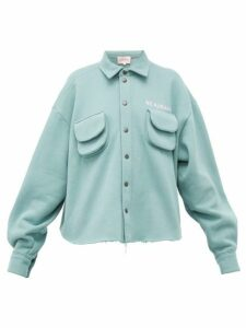 Natasha Zinko - Cargo-pocket Cotton-blend Jersey Shirt - Womens - Light Green
