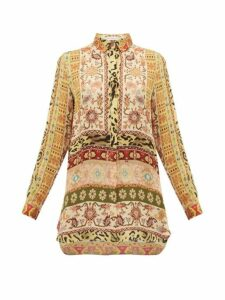 Etro - Berkshire Printed Silk Blouse - Womens - Ivory Multi