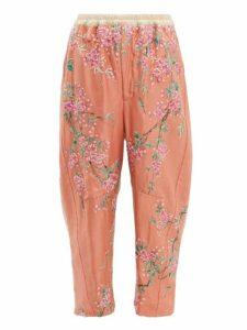 By Walid - Jay 19th-century Kimono-silk Trousers - Womens - Pink Multi