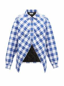 Balenciaga - Swing Canadian Checked Cotton-flannel Shirt - Womens - Blue