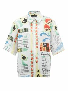Martine Rose - Ackee And Saltfish-print Linen Shirt - Womens - White Multi