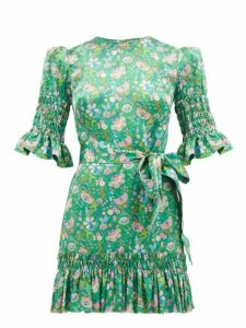 The Vampire's Wife - The Whole Lotta Trouble Mabel Silk Dress - Womens - Green Multi