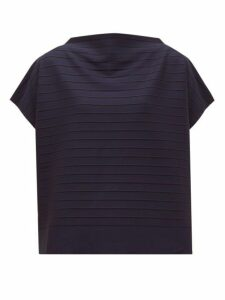 Issey Miyake - Woody Ripple Striped Jersey Top - Womens - Navy