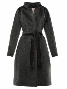 Herno - Stand Collar Faux-fur Coat - Womens - Black