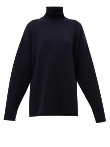 Extreme Cashmere - No.100 Hippy Stretch-cashmere Sweater - Womens - Navy