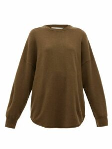 Extreme Cashmere - No. 53 Crew Hop Oversized Stretch-cashmere Sweater - Womens - Brown