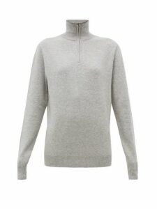 Extreme Cashmere - No. 102 Here Half-zip Stretch-cashmere Sweater - Womens - Light Grey