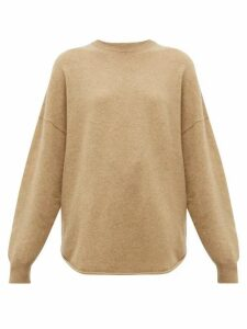 Extreme Cashmere - No. 53 Crew Hop Stretch-cashmere Sweater - Womens - Camel