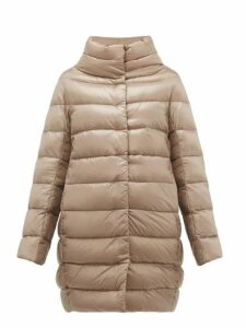 Herno - Dora High Neck Down Filled Coat - Womens - Grey
