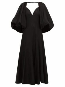 Khaite - Joanne Balloon-sleeve Cotton Maxi Dress - Womens - Black