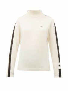 Bella Freud - Britt Dog-embroidered Wool-blend Sweater - Womens - White