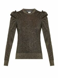 Dolce & Gabbana - Ruffled Lamé Sweater - Womens - Black Gold
