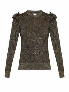 Dolce & Gabbana - Ruffled Lamé Sweater - Womens - Black Gold