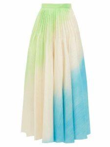 Roksanda - Ambra Hand-sprayed Ripple-textured Skirt - Womens - Green Multi
