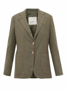 Giuliva Heritage Collection - The Andrea Pinstriped Single-breasted Wool Blazer - Womens - Grey Multi