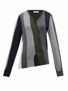Jw Anderson - Asymmetric Wool Cardigan - Womens - Multi