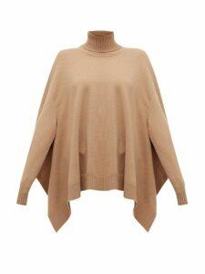 Maison Margiela - Handkerchief-hem Wool Poncho Sweater - Womens - Camel
