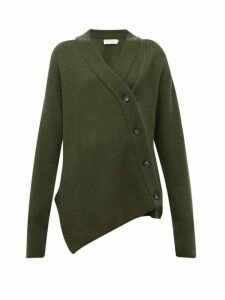 Marques'almeida - Asymmetric Wool Cardigan - Womens - Khaki