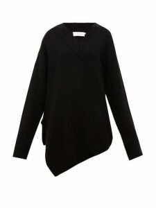 Marques'almeida - Asymmetric Merino Wool Sweater - Womens - Black
