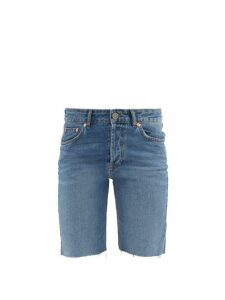 Raey - Hand Me Down Cut Off Denim Shorts - Womens - Blue