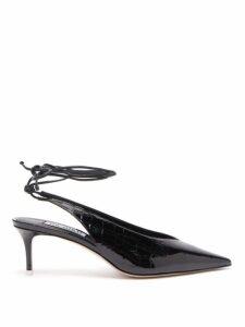 The Attico - Caterina Crocodile Effect Patent Leather Pumps - Womens - Black