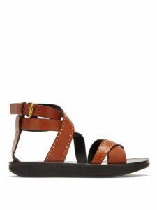 Isabel Marant - Nasha Studded Leather Sandals - Womens - Tan