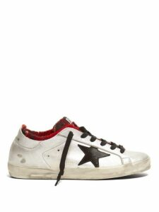 Golden Goose - Superstar Leather Trainers - Womens - Silver Multi