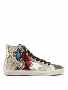 Golden Goose - Francy High-top Python-effect Trainers - Womens - Python