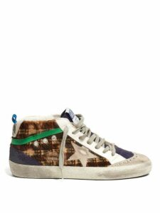 Golden Goose - Mid Star Mid Top Leather And Calf Hair Trainers - Womens - Multi