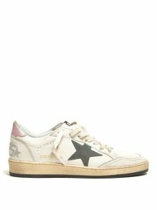 Golden Goose - Ball Star Leather Trainers - Womens - Pink White
