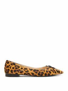 Prada - Leopard-print Calf-hair Ballet Flats - Womens - Leopard