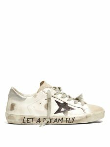 Golden Goose - Superstar Leather Trainers - Womens - White Black