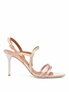Malone Souliers - Sage Satin Stiletto Sandals - Womens - Pink Multi