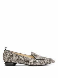 Nicholas Kirkwood - Beya Leopard-print Calf Hair Loafers - Womens - Black White