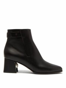 Nicholas Kirkwood - Miri Faux Pearl-embellished Leather Ankle Boots - Womens - Black
