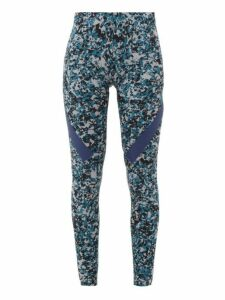 Adidas By Stella Mccartney - Alphaskin 360 Camo-print Leggings - Womens - Grey