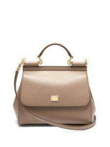 Dolce & Gabbana - Sicily Medium Leather Bag - Womens - Beige