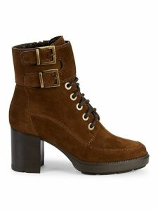 Irene Double Buckle Suede Boots